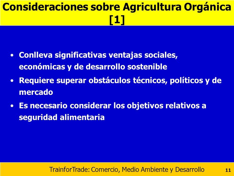 Consideraciones sobre Agricultura Orgánica [1]